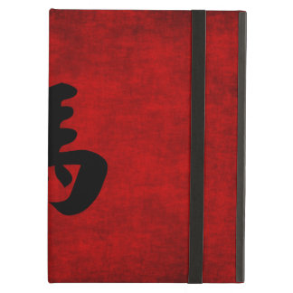 Chinese Calligraphy Symbol for Horse in Red iPad Air Covers