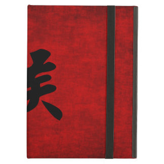 Chinese Calligraphy Symbol for Monkey in Red Case For iPad Air