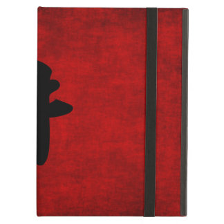 Chinese Calligraphy Symbol for Ox in Red and Black Cover For iPad Air