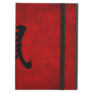 Chinese Calligraphy Symbol for Rat in Red iPad Air Cover