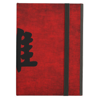 Chinese Calligraphy Symbol for Rooster in Red iPad Air Cover