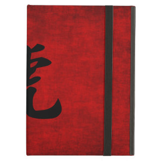 Chinese Calligraphy Symbol for Tiger in Red iPad Air Cases