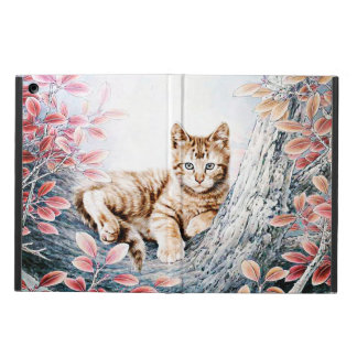 Chinese Cat Art Cat in Tree Cover For iPad Air