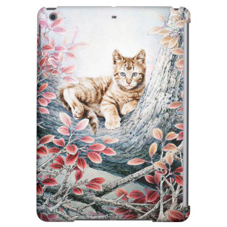 Chinese Cat Art Cat in Tree iPad Air Cover