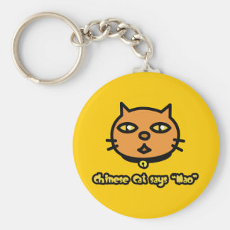 Chinese Cat Says 'Mao' Keychain