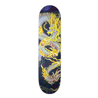 Chinese Celestial Emperor Dragon Hologram Pro Skate Deck