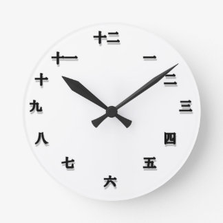 Chinese Character Clockface Wall Clocks