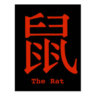Chinese Character for Rat Postcard