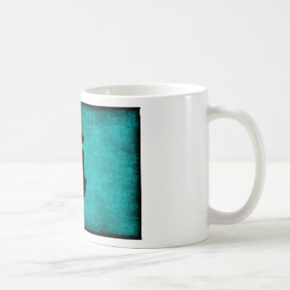 Chinese Character Painting for Courage in Blue Coffee Mug