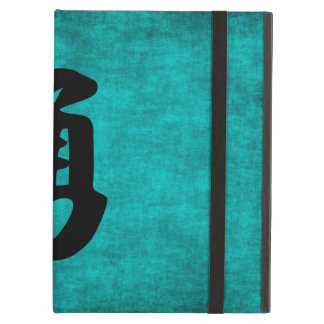 Chinese Character Painting for Courage in Blue iPad Air Case