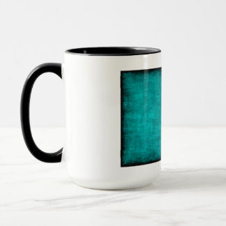 Chinese Character Painting for Courage in Blue Mug
