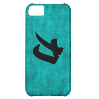 Chinese Character Painting for Strength in Blue Case For iPhone 5C