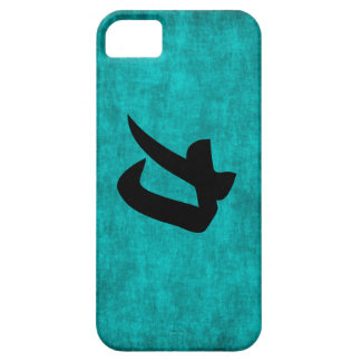Chinese Character Painting for Strength in Blue Case For The iPhone 5