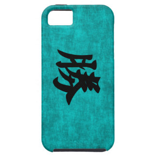 Chinese Character Painting for Success in Blue Case For The iPhone 5