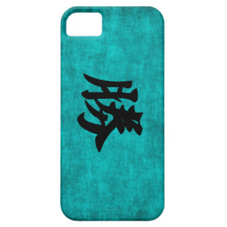 Chinese Character Painting for Success in Blue iPhone 5 Case