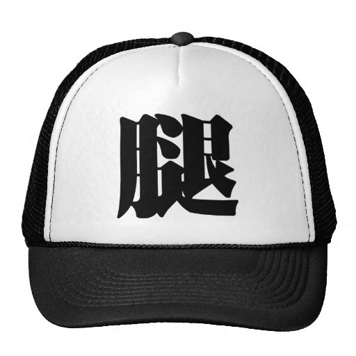 Chinese Character : tui, Meaning: leg Mesh Hat