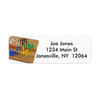 Chinese Checkers Game In Progress Return Address Label