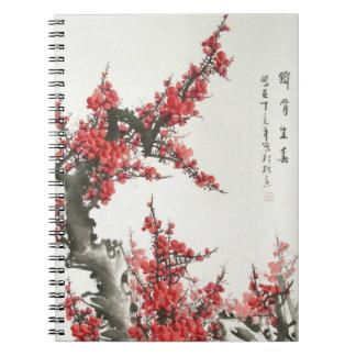 Chinese Cherry Blossom Notebooks