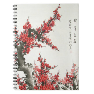 Chinese Cherry Blossom Spiral Notebook