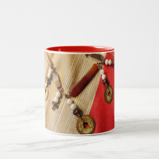Chinese Coin Necklace Two-Tone Coffee Mug