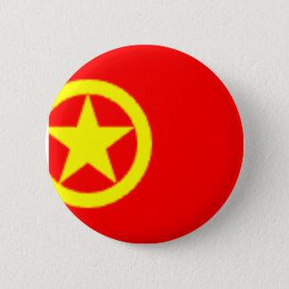 CHINESE COMMUNIST FLAG 2 INCH ROUND BUTTON