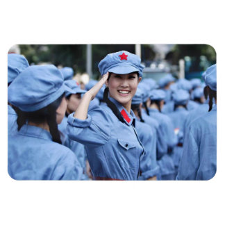 Chinese communist rectangular photo magnet