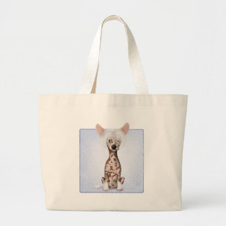 Chinese Crested 1 Large Tote Bag