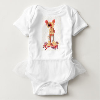 Chinese Crested Baby Bodysuit