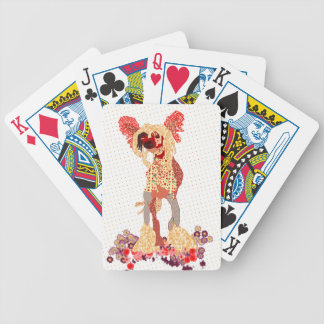 Chinese Crested Bicycle Playing Cards