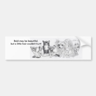 Chinese Crested Bumper Sticker