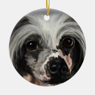 Chinese Crested Ceramic Ornament