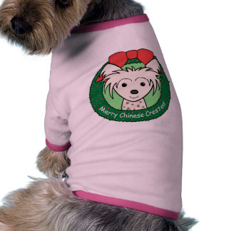 Chinese Crested Christmas Doggie Tshirt