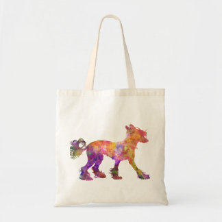 Chinese crested dog 01 in watercolor 2 tote bag