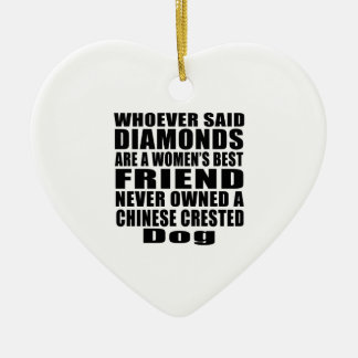 CHINESE CRESTED DOG BEST FRIEND DESIGNS CERAMIC ORNAMENT