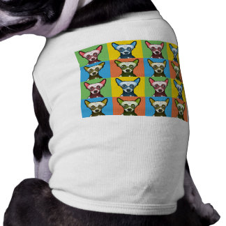 Chinese Crested Dog Cartoon Pop-Art Dog Clothes