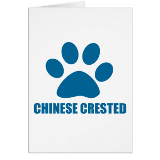 CHINESE CRESTED DOG DESIGNS CARD