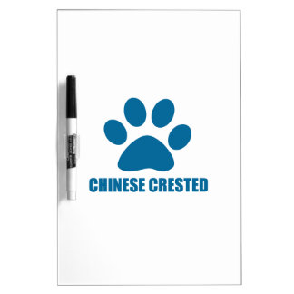 CHINESE CRESTED DOG DESIGNS DRY ERASE BOARD