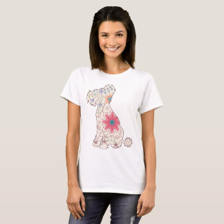 Chinese crested dog vintage Women's Basic T-Shirt