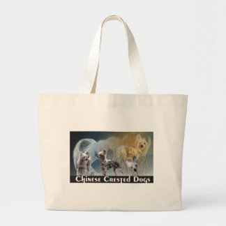Chinese Crested Dogs Large Tote Bag