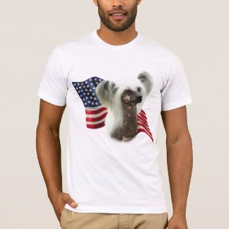 Chinese Crested Flag T-Shirt