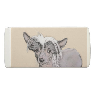 Chinese Crested (Hairless) 2 Eraser