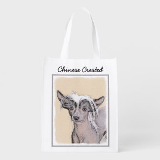 Chinese Crested (Hairless) 2 Reusable Grocery Bag