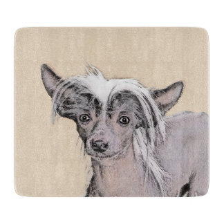 Chinese Crested Hairless Painting Original Dog Art Boards