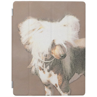 Chinese Crested Hairless Painting Original Dog Art iPad Cover
