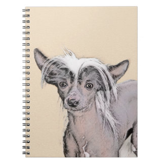 Chinese Crested Hairless Painting Original Dog Art Notebook