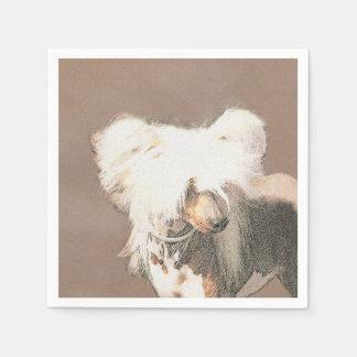 Chinese Crested Hairless Painting Original Dog Art Paper Napkin