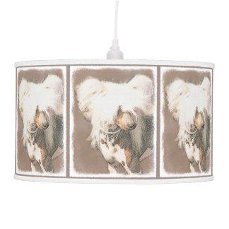 Chinese Crested Hairless Painting Original Dog Art Pendant Lamp