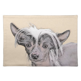 Chinese Crested Hairless Painting Original Dog Art Placemat
