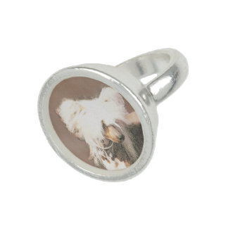 Chinese Crested Hairless Painting Original Dog Art Ring