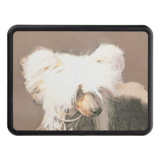 Chinese Crested Hairless Painting Original Dog Art Trailer Hitch Cover